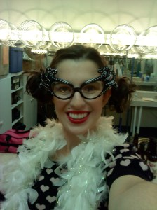Me as Little Kitty getting ready backstage at Theatre Charlotte in 2010.