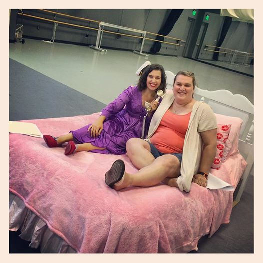 Pillow Talk Paige and me rehearsal